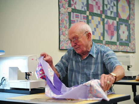 Quilting, which requires measuring and calculating, also helped improve participants' memory.
