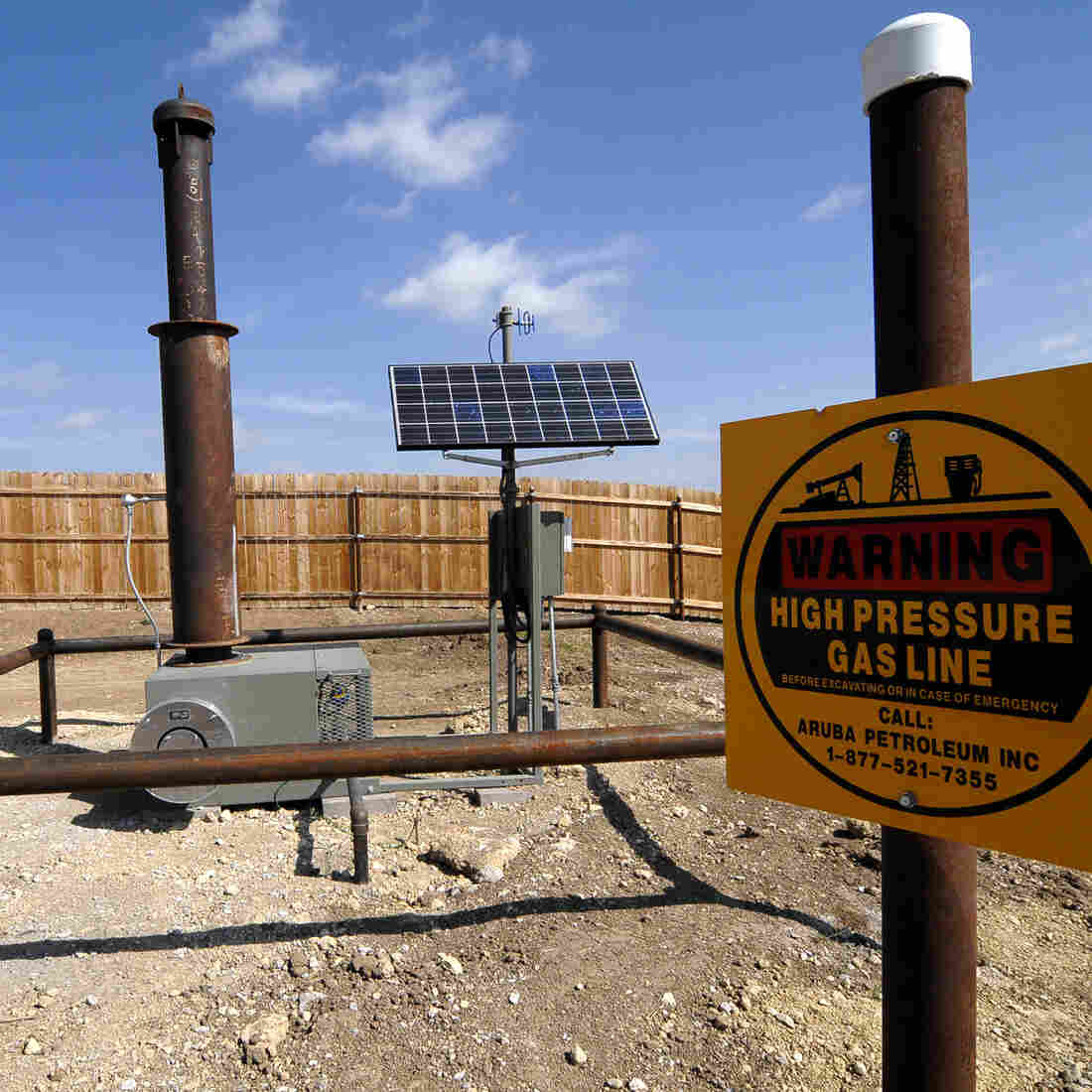 Equipment installed by Aruba Petroleum at a natural gas well near Decatur, Texas. A family in North Texas sued Aruba, calling its drilling sites a nuisance to the family's health. A jury awarded the family nearly $3 million.