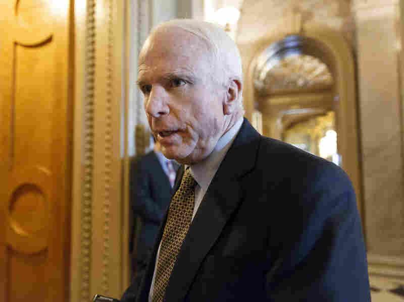 "Sen. John McCain, R-Ariz., said the U.S. ""should be looking, desperately,"" for alternatives to Russian rocket engines."