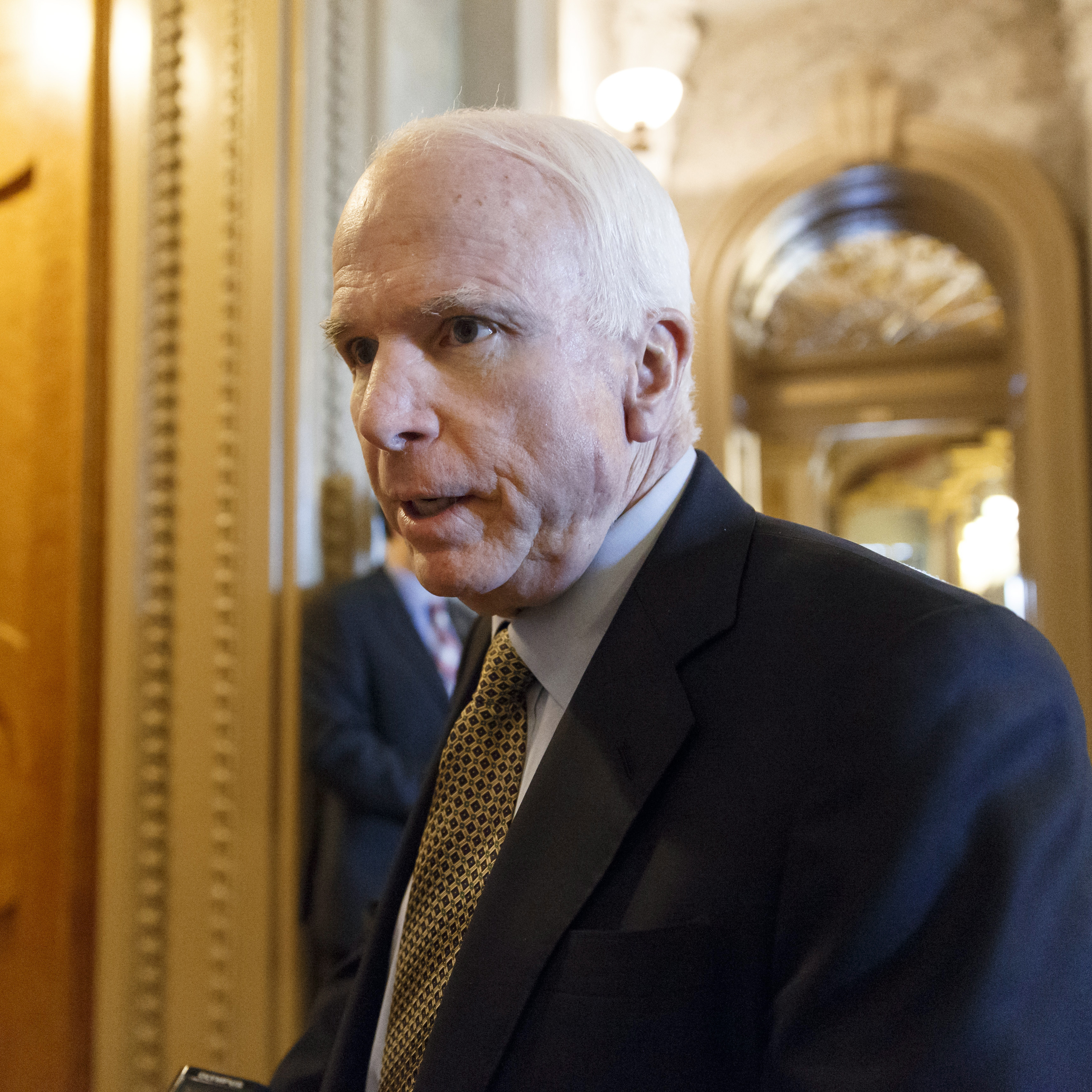 "Sen. John McCain, R-Ariz., said the U.S. ""should be looking, desperately,"" for alternatives to Russian rocket engines."