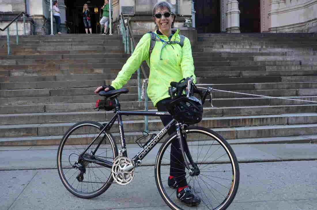 Debbie Friedman, from Staten Island, has been to the Blessing of the Bikes multiple times. She doesn't know if it's because of the benediction, but she's never been hit by a car.