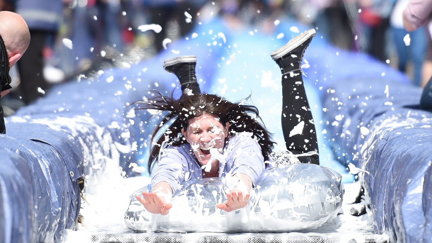 Slipping Through The City: Bristol Turns Street Into A Water Slide