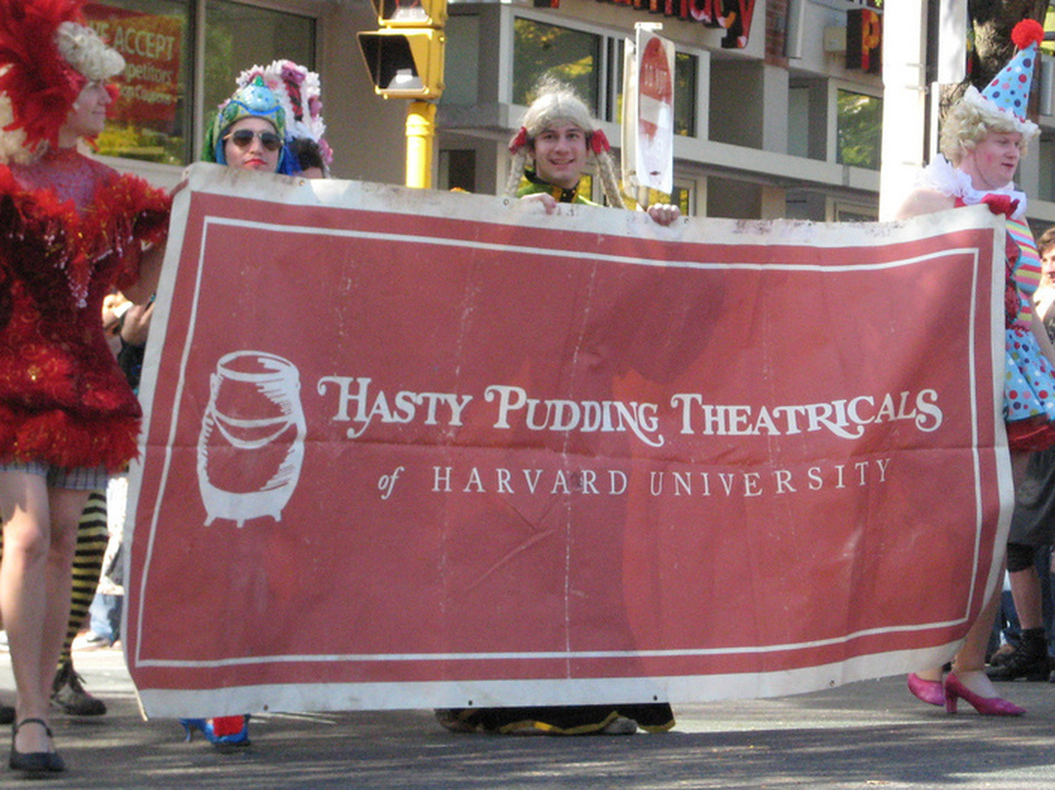 "Harvard's Hasty Pudding Theatricals. According to a recent Gallup poll, only 2 percent of college graduates with $20,000 to $40,000 in undergraduate loans said they were ""thriving."""