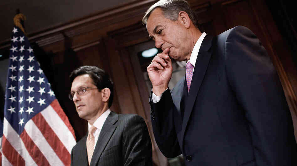 House Majority Leader Eric Cantor, R-Va., and Speaker of the House John Boehner, R-Ohio, have backed off pushing for repeal of the Affordable Care Act.