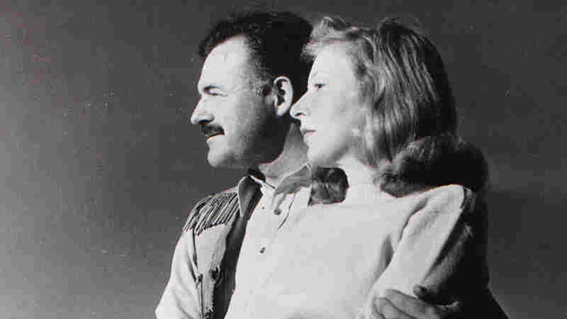 Ernest Hemingway and his third wife, Martha Gellhorn, at the Sun Valley Lodge in Idaho.