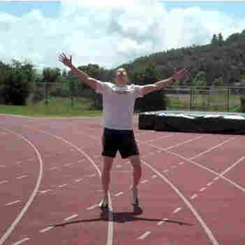 "James Nielsen posted a video of himself running what he says is the first sub-5-minute ""Beer Mile."""