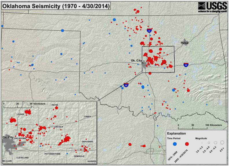 USGS Okla At Increased Risk Of Damaging Quake The TwoWay NPR - Us seismic activity map