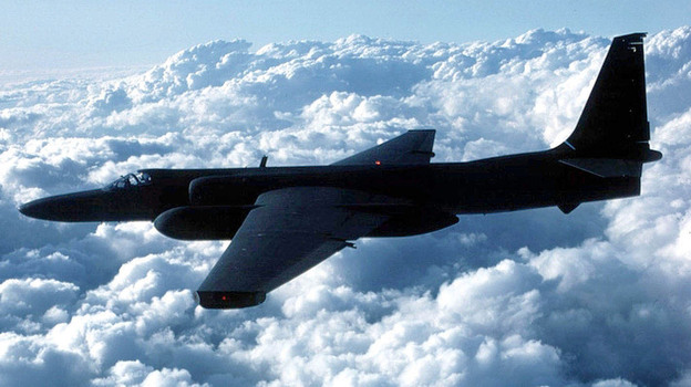 The Air Force's U-2 spy plane first took flight in August 1955. One of the planes confused air traffic control computers in California last week, creating havoc. (Getty Images)