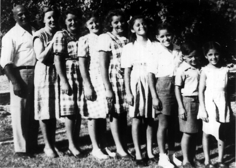 Abol, Helen and their seven children in the city of Masjid Suleyman, Iran. Circa 1945. My mother Mary Nell Laleh Bakhtiar was their youngest child born in Tehran in 1938.