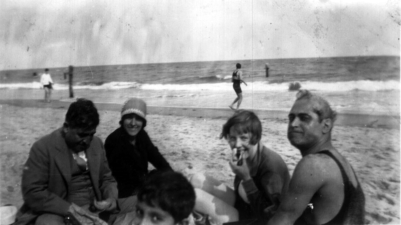 Helen and Abol (couple on the right) at Coney Island, circa 1927.
