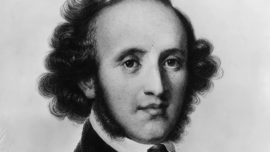 An engraving of composer Felix Mendelssohn, c. 1840. (Getty Images)