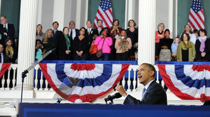 President Obama made the case for health coverage at Faneuil Hall in Boston in