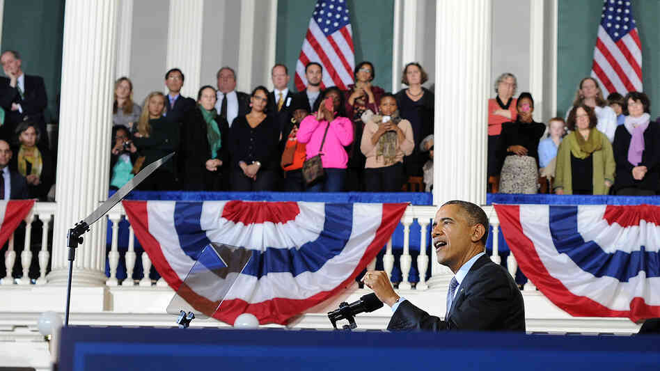 President Obama made the case for health coverage at Faneuil Hall in Boston in late October, a few weeks after enrollment opened for health insurance sold on exchanges created under the Affordable Care Act.