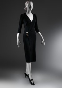 James said he named 1932's knit wool Taxi dress because he wanted a woman to be able to get into or out of it in the back of a taxi.