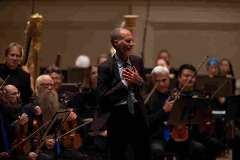 The composer John Luther Adams, whose music is often inspired by the natural world, accepts the enthusiastic applause from the Carnegie Hall Audience after the Seattle Symphony performance of his Pulitzer-winning piece Become Ocean.