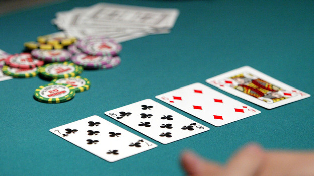 Poker players take part in the 2004 World Series of Poker Tournament in Las Vegas. (Getty Images)