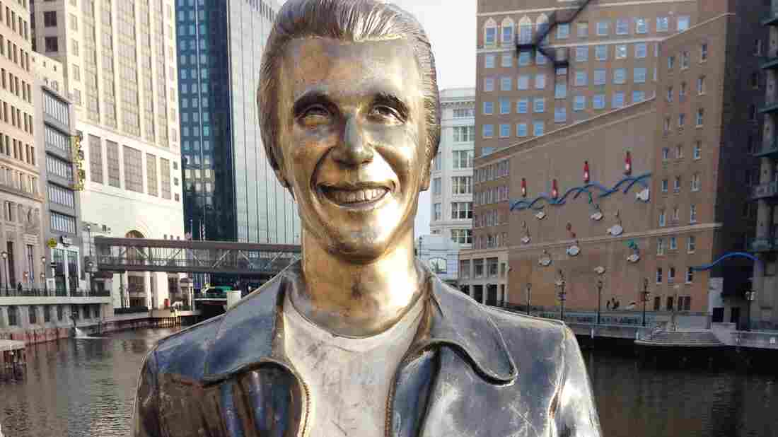 Milwaukee's Bronze Fonz.
