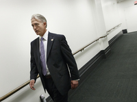 South Carolina GOP Rep. Trey Gowdy leaves a closed-door Republican strategy meeting at the Capitol on Wednesday. Gowdy has been tapped to lead the new Benghazi investigative committee.