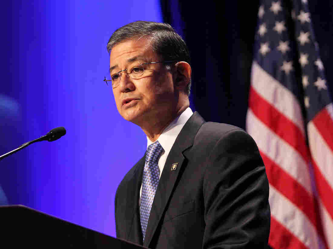 General Eric Shinseki, Secretary of Veterans Affairs, speaking in December. Congress has voted to issue a subpoena to Shinseki to testify in connection with delays in treatment at VA hospitals.