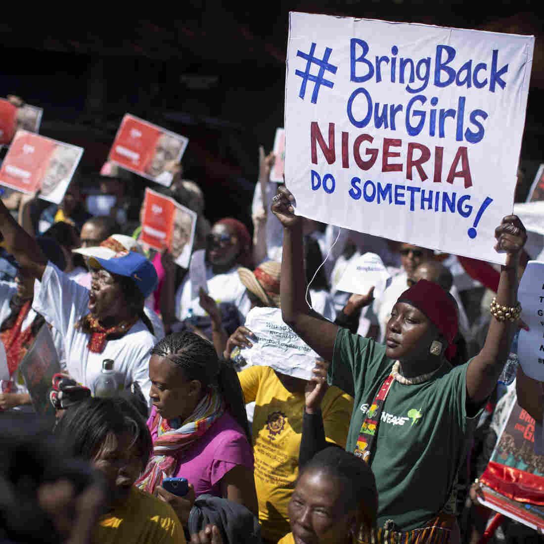 The effort to find hundreds of abducted Nigerian schoolgirls has gone international — and so has anger over the mass kidnapping, as evidenced by this protest Thursday in South Africa. Retired Gen. Carter Ham says there's still a chance for the U.S. to help.