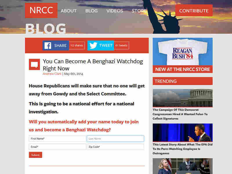 Screen shot of the NRCC website.