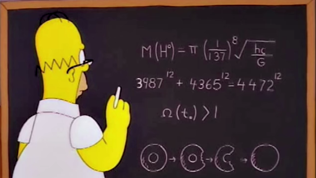 Homer solves Fermat's Last Theorem, or does he?