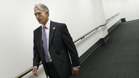 Rep. Trey Gowdy, R-S.C., leaves a closed-door Republican strategy meeting at the U.S. Capitol on Wednesday. He will head the select House committee on Benghazi.