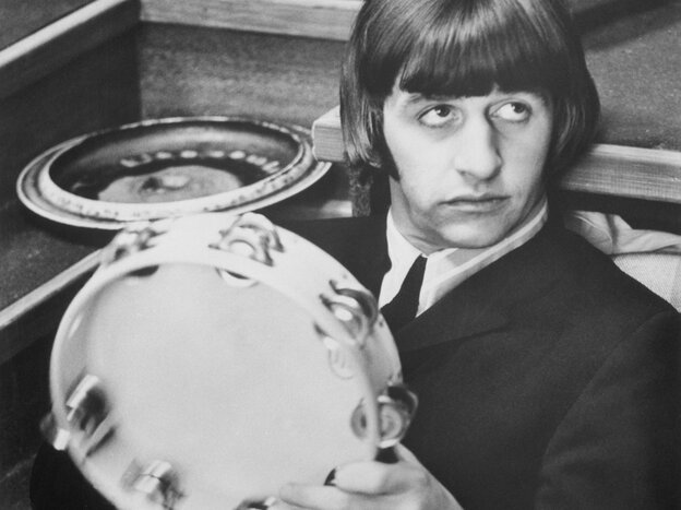 Ringo Starr, drummer for The Beatles, on set for the 1965 film Help!