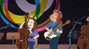 Two of the Bang on a Can All-Stars immortalized on the kids' cartoon Arthur.