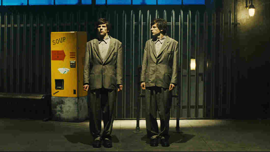 Jesse Eisenberg's performance as mystery doppelgangers will have you seeing Double.