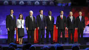 The RNC wants to see many fewer of these presidential debate scenes in 2016. Before a November 2011 Michigan showdown, from left: former Pennsylvania Sen. Rick Santorum; Minnesota Rep. Michele Bachmann; former House Speaker Newt Gingrich; former Massachusetts Gov.