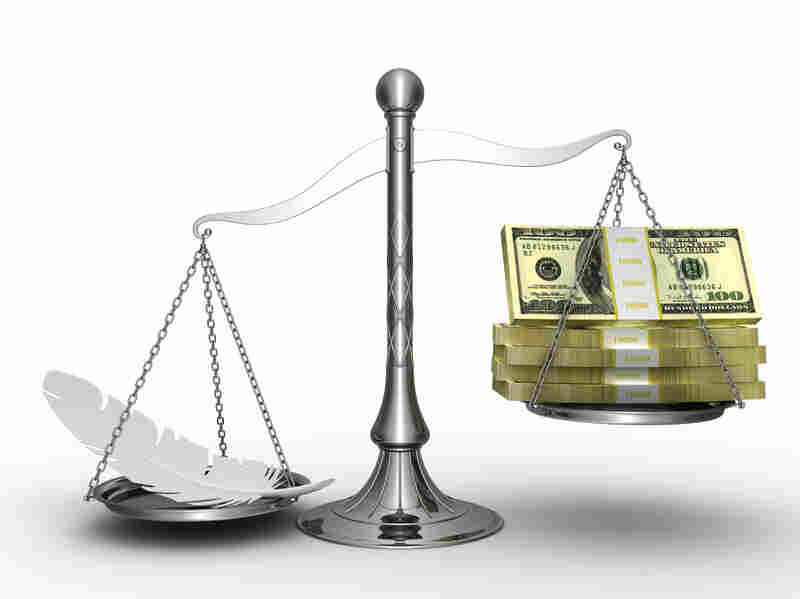 Weighing income inequality