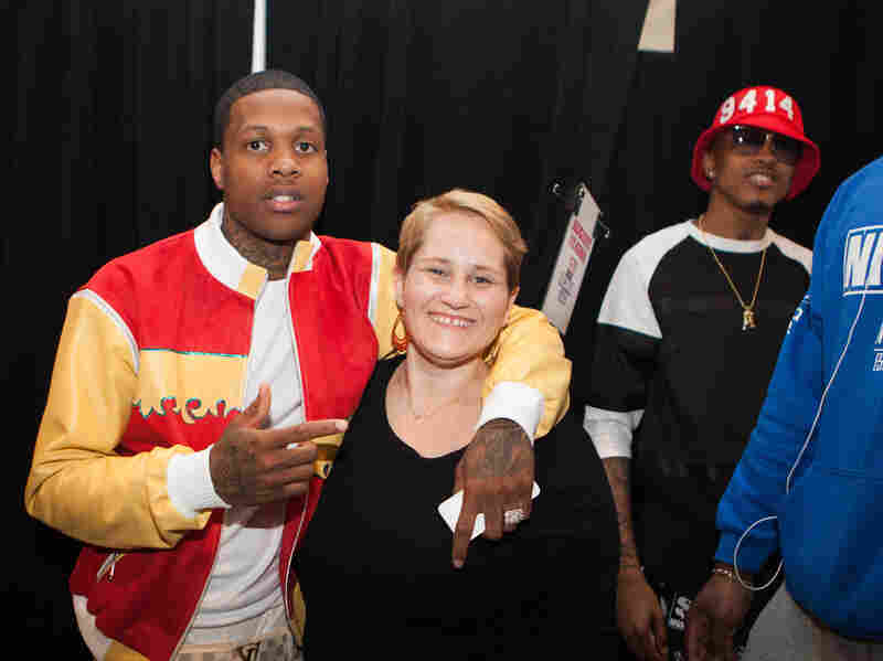 Vanessa Satten, center, with Lil Durk to the left and August Alsina to the right.