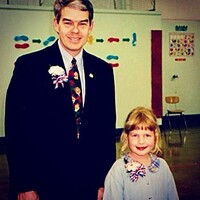 Chelsea Kiene writes: Here is the first trace of photographic evidence: my first inauguration, circa 1996 (I was sworn into Weston Elementary School's student council by now Ohio State Senator Randy Gardner).