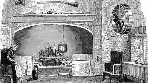 The dog wheel circa 1890, drawn in E.F. King's Ten Thousand Wonderful Things.