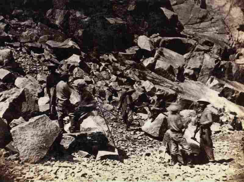 Some photographs taken during the railroad's construction feature Chinese laborers. More photos can be found on Stanford University's Chinese Railroad Workers in North America Project's website.