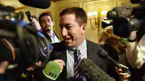 Glenn Greenwald in April, arriving in the U.S.