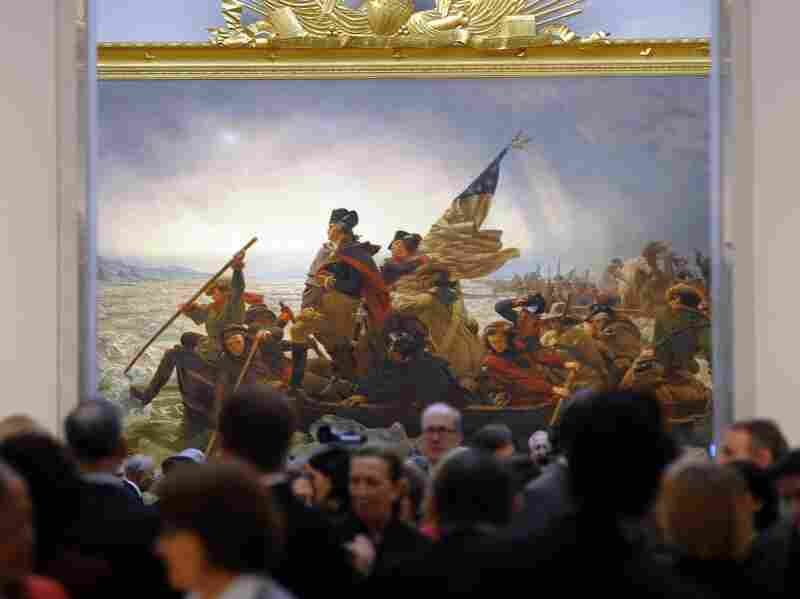 "Emanuel Gottlieb Leutze's 1851 painting ""Washington Crossing the Delaware"" seen at the Metropolitan Museum of Art in 2012."