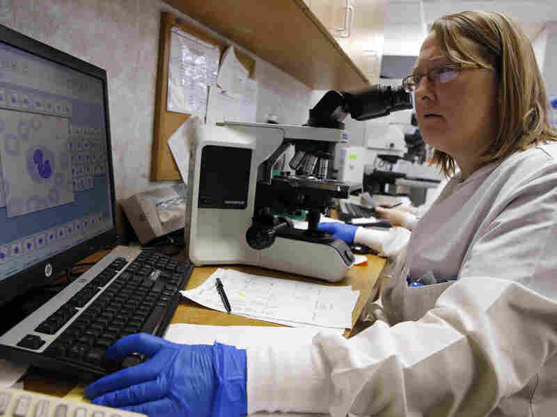 Microbiologist Shay Wilinski works at Community Hospital in Munster, Ind., where the first U.S. case of Middle East respiratory syndrome was detected.