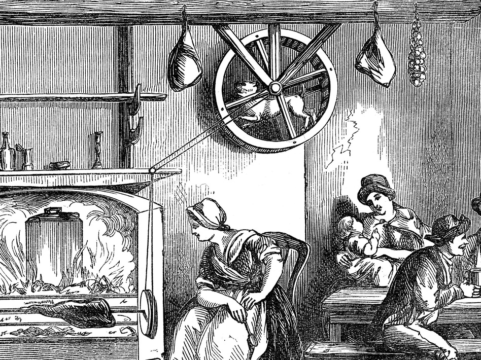 A Turnspit Dog At Work In Wooden Cooking Wheel An Inn Newcastle Carmarthen Wales 1869