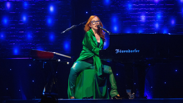 Tori Amos on stage in Glasgow, three days before the release of her 14th studio album, Unrepentant Geraldines. (Redferns via Getty Images)