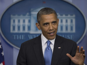 President Obama speaks at a news briefing in July about the fatal shooting of Trayvon Martin by George Zimmerman.