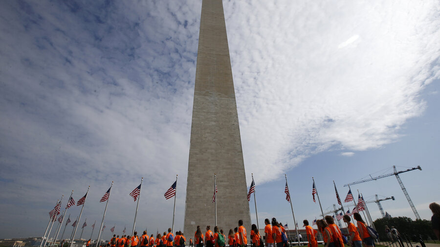 washington monument cracked after earthquake delivered