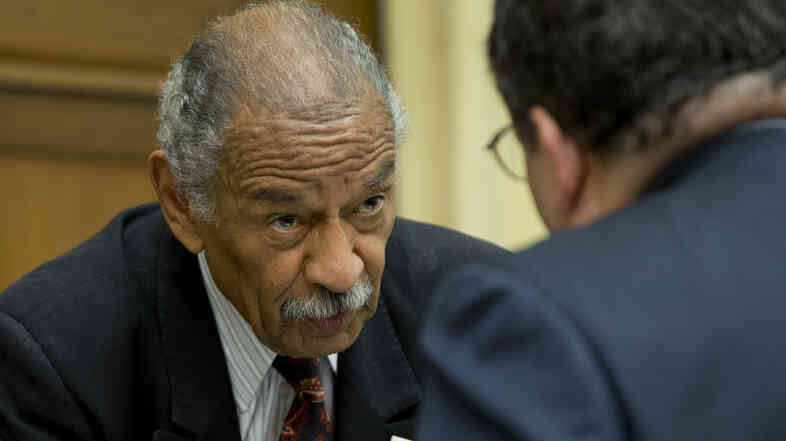 Michigan Rep. John Conyers, at a congressional hearing last week. The Democrat and longtime congressman faces the prospect of not being on Michigan's August primary ballot after failing to present the required number of valid signatures.