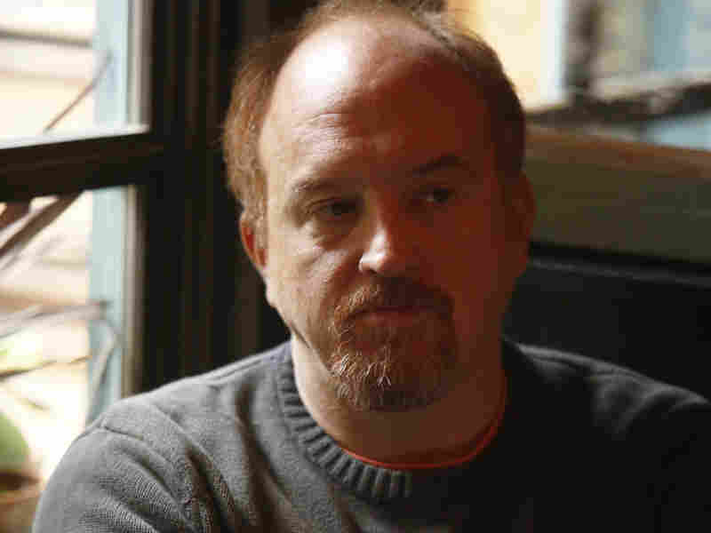 """Louis C.K. in the episode """"So Did the Fat Lady,"""" which also stars actress Sarah Baker."""