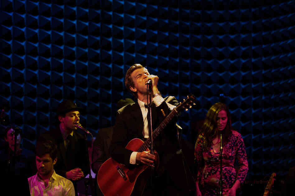 Hamilton Leithauser, performing live at Joe's Pub in New York City, Apr. 16.