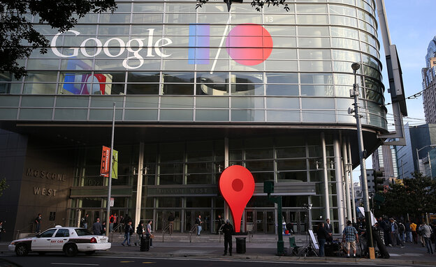 Attendees line up to enter the Google I/O developers conference in San Francisco in May 2013.