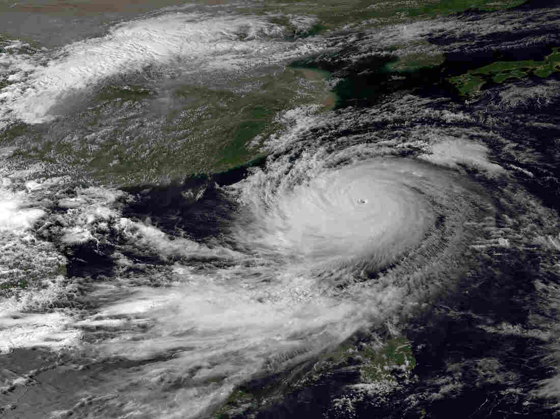 A NOAA image taken by the Japan Meteorological Agency in September shows Typhoon Usagi. A new study says that such tropical cyclones are reaching peak intensity farther away from the equator.