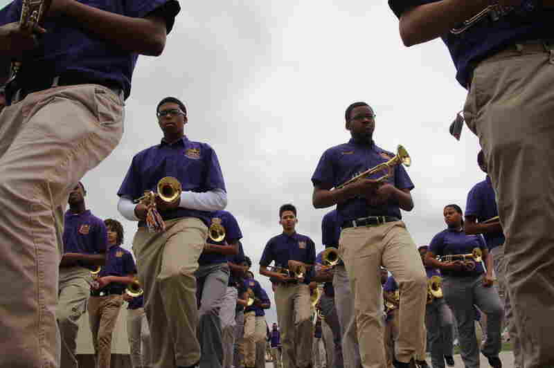 The Edna Karr High School marching band had fewer than 40 members four years ago. Today, more than 80 students are in the band.