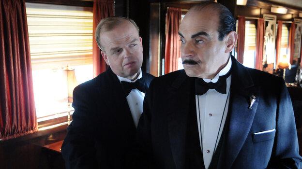 David Suchet (right) as detect